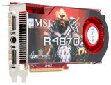 MSI Radeon HD 4870 780Mhz PCI-E 2.0 512Mb 4000Mhz 256 bit 2xDVI TV HDCP YPrPb