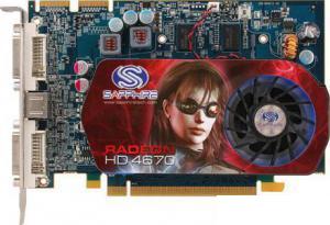 Sapphire Radeon HD 4670 750 Mhz PCI-E 2.0 1024 Mb 1746 Mhz 128 bit 2xDVI TV HDCP YPrPb