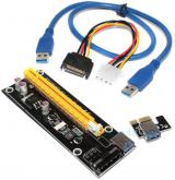 Райзер PCI-E 1x to 16x USB 3.0 riser SATA, удлинитель для видеокарт 60 см